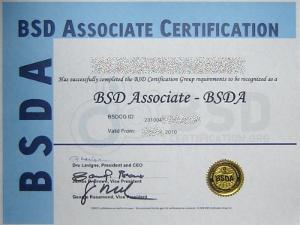 Certification BSD